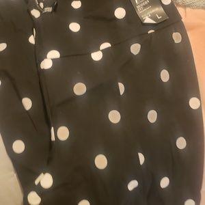 Polka dot pull on pants